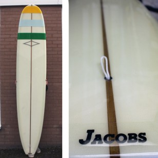 SOLD 9'6 Jacobs Trad Noserider Resin Gloss Bands Volan (logo less series) SOLD