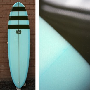 7'0 Bing Karma Coke bottle blue tint with green resin stripes SOLD
